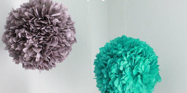 Girl Bedroom Makeover Part 1- DIY Hanging Satin Pom Pom