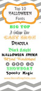 sm top halloween fonts
