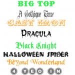 Top 10 Fonts for Halloween