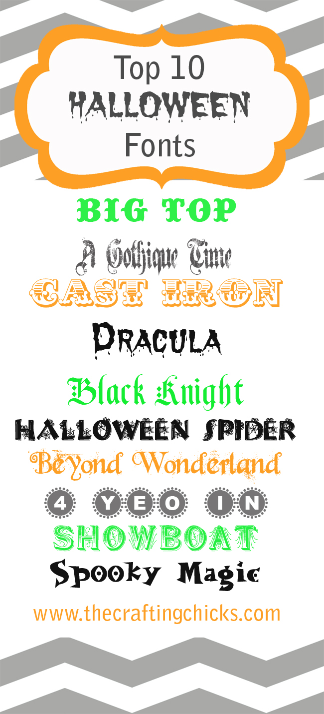 Top 10 Halloween Fonts