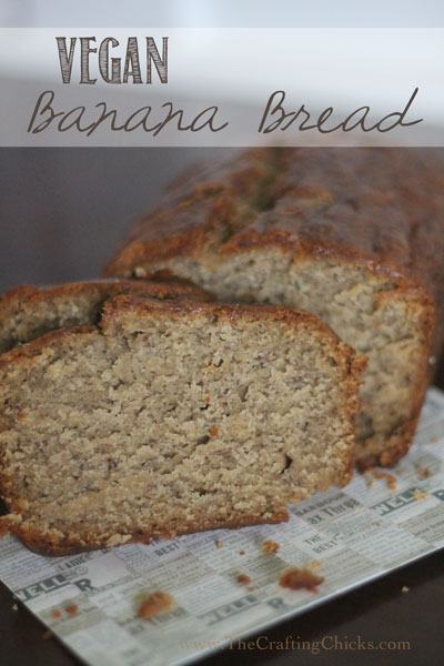 Vegan Banana Bread is a delicious take on this classic recipe. You won't miss any taste with this recipe. #breadrecipe #quickbread #bananabread