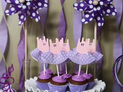 Dance Leotard & Tutu Cupcake Toppers