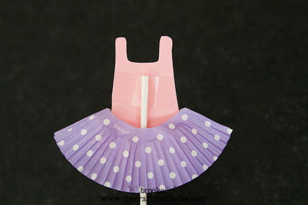 ballet leotard cupcake toppers-2