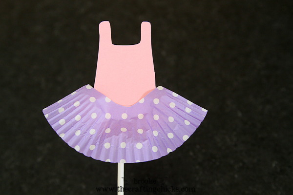 ballet leotard cupcake toppers-5