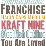 10 Free Fall Fonts
