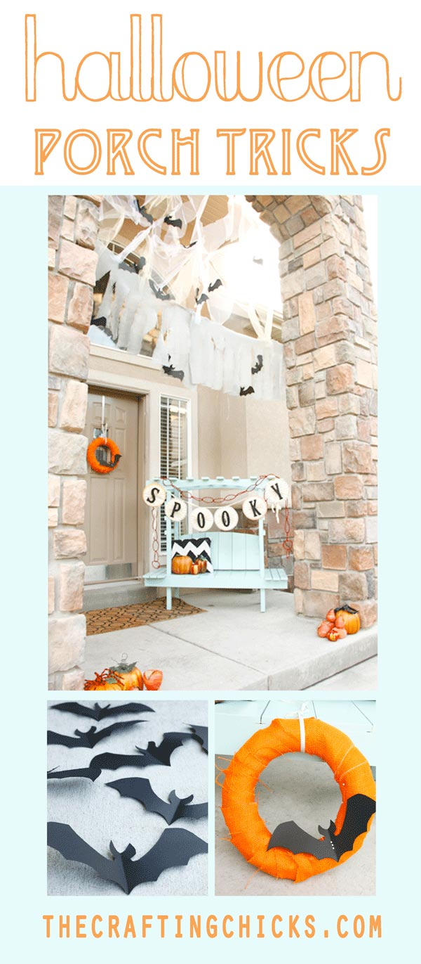 festive halloween porch tricks - the crafting chicks