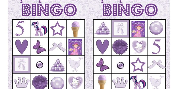 Purplicious Party Bingo {Free Printable}