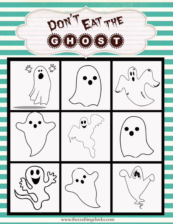 Halloween Class Party Game Printables