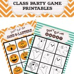 Halloween Class Game Printables