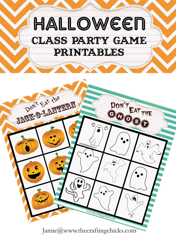 Halloween Class Game Printables - The Crafting Chicks
