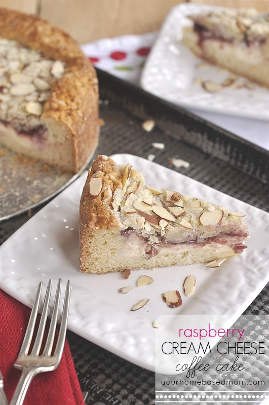 Raspberry Cream Cheese Coffee Cake by Your Home Based Mom