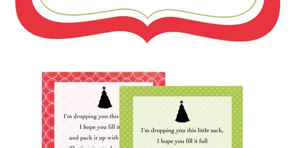 Santa Sack Printables