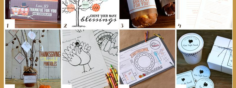 12 FREE Printables for THANKSGIVING & Thanksgiving Planning Sheet