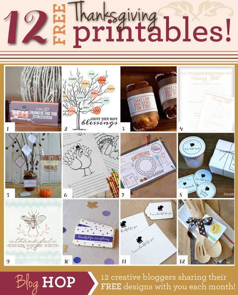 12 FREE Printables for THANKSGIVING & Thanksgiving Planning Sheet