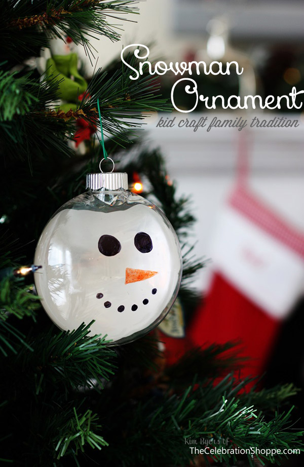 DIY Snowman Christmas Ornament - Handcrafted Christmas Tree Ornaments {Christmas Traditions Series
