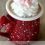 Hot Chocolate with Peppermint Cream from Simply Kierste {Christmas Tradition Series}