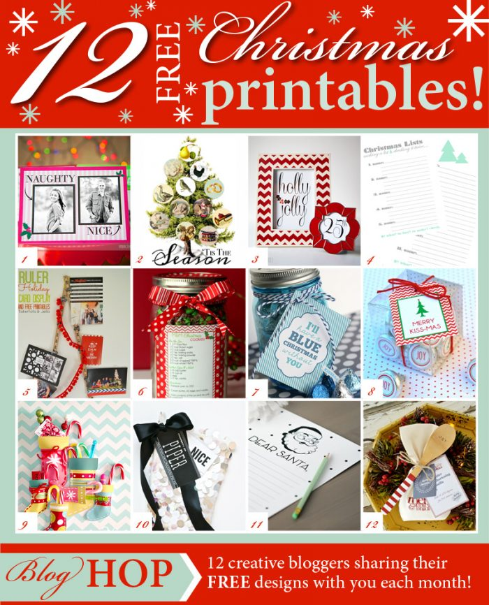 12 FREE Printables for Christmas