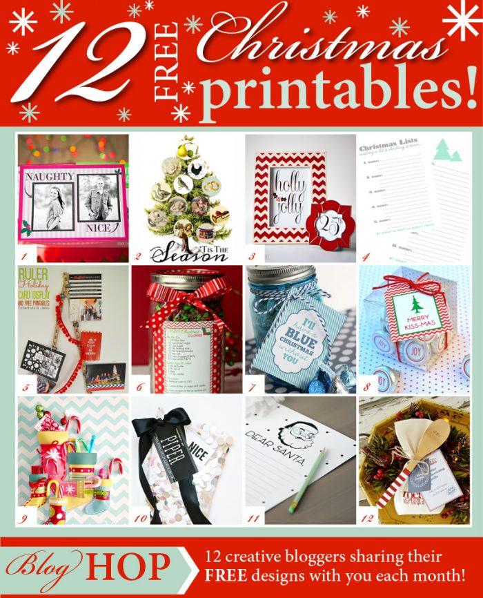 12 FREE Printables for Christmas