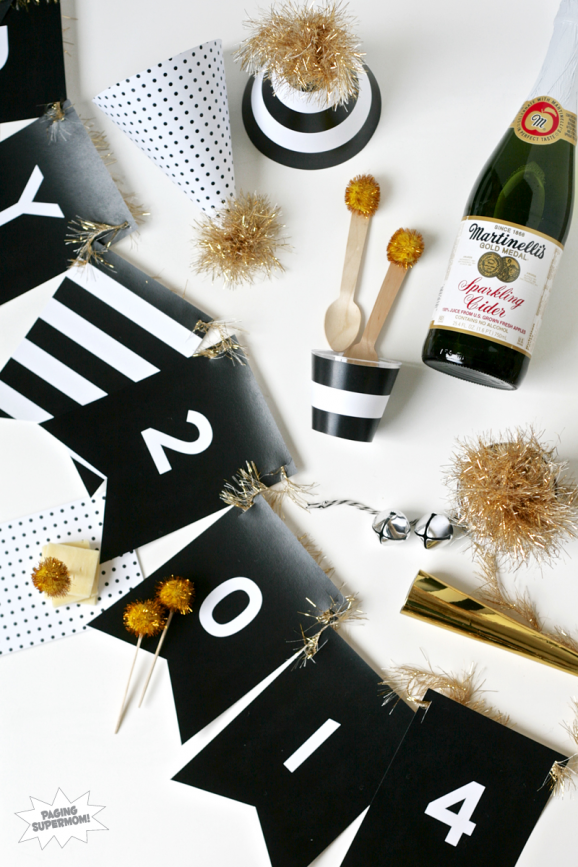 10 Quick New Year's Eve Party Ideas & Free Printables ...