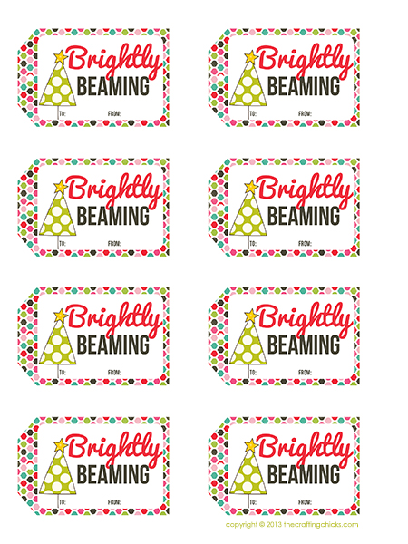 Brightly Beaming Gift Tag Printable