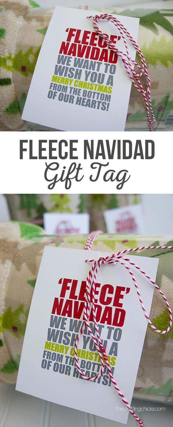 Fleece Navidad Blanket Tag