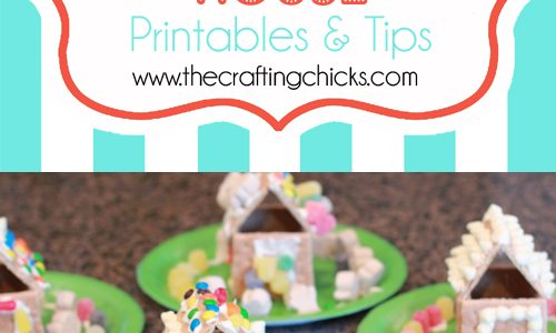 Gingerbread Houses {A Christmas Tradition} & Free Printables