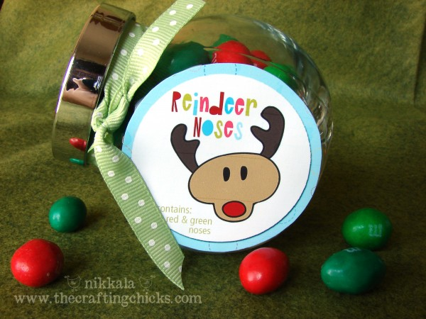 reindeer noses tags