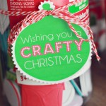 "Wishing You a ""CRAFTY"" Christmas Gift Tag Free Printable"