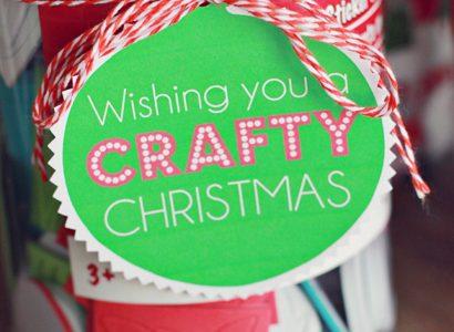 """Wishing You a """"CRAFTY"""" Christmas Gift Tag Free Printable"""