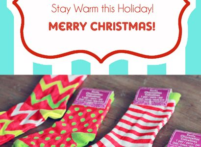 "Mistle ""Toes"" Christmas Socks Gift Tag & Free Printable"