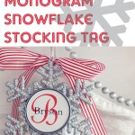 Monogram Snowflake Stocking Tags