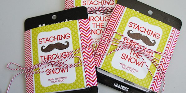 Staching Through the Snow Gift Tags