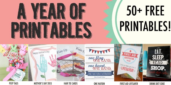 A Year of Printables