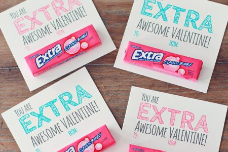 It is an image of Unusual Extra Gum Valentine Printable