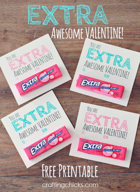 picture regarding Extra Gum Valentine Printable identify More\