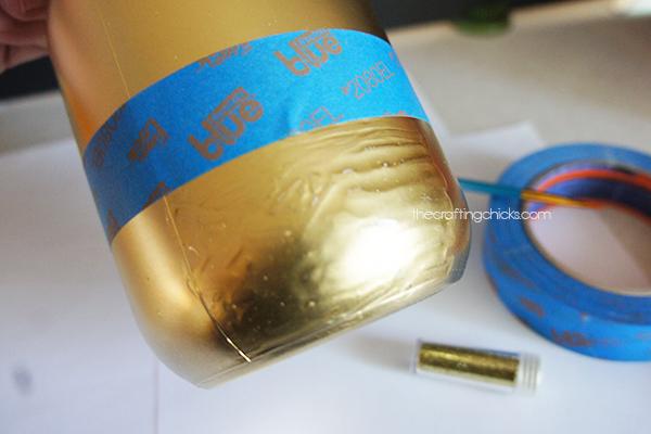 Glittered jars glue