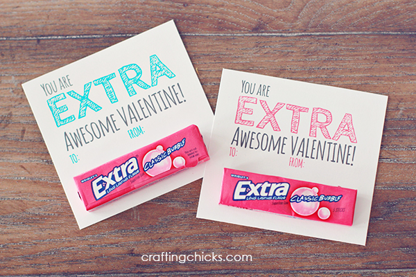 This is a photo of Satisfactory Extra Gum Valentine Printable