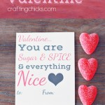 Sugar & Spice Valentine *Free Printable