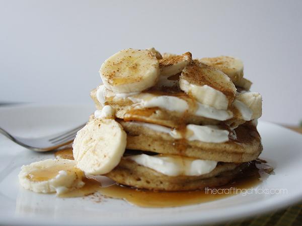 Sour Cream Banana Pancakes