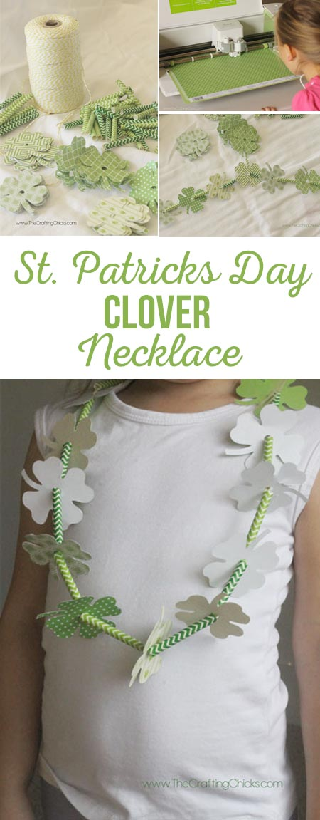 DIY Four Leaf Clover Necklace - A simple St. Patrick's Day craft