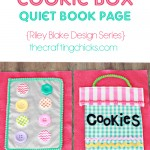 Cookie Box Quiet Book Page *Riley Blake Fabric Series