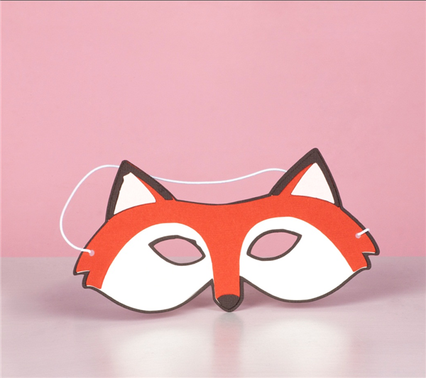 The gallery for felt fox mask for Fantastic mr fox mask template