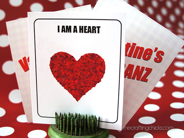 photograph about Hedbanz Cards Printable titled Valentines HedBanz - The Composing Chicks