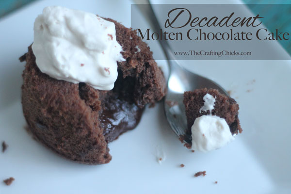 Decadent Molten Chocolate Cake