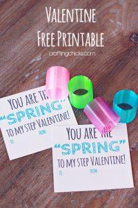 Slinky Valentine *Free Printable