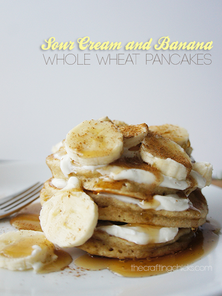 Sour Cream adn Banana Pancakes