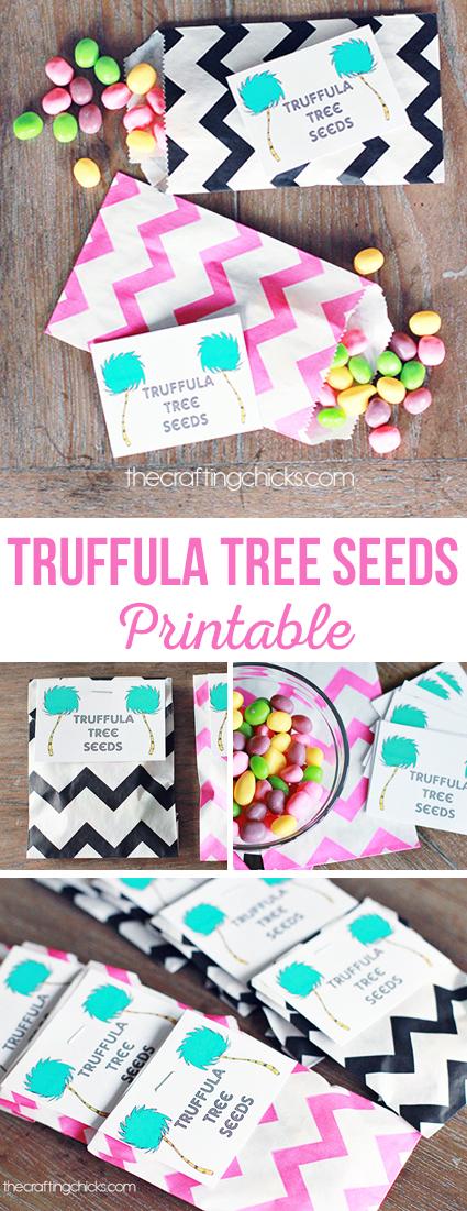 Truffula Tree Seed Printable