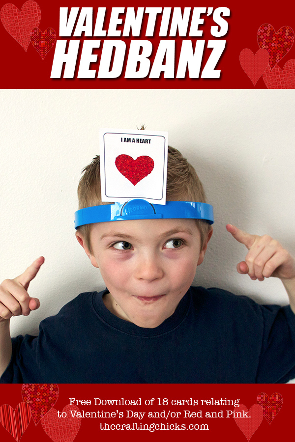 image regarding Hedbanz Cards Printable named Valentines HedBanz - The Writing Chicks