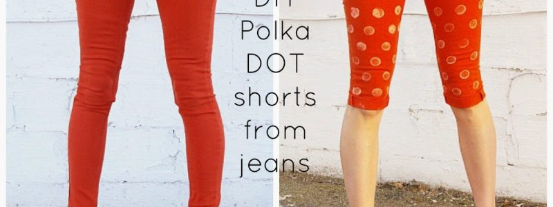 DIY Polka Dot Shorts from Brassy Apple {Spring Fever Series}