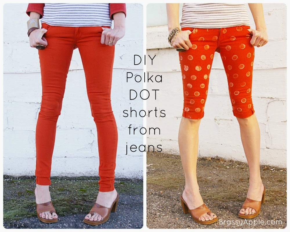 DIY Polka Dot Shorts from Brassy Apple {Spring Fever Series}